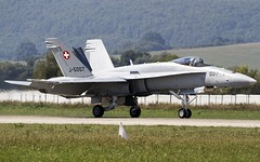 "Swiss F/A-18C ""Hornet"" @ LZSL (stecker.rene) Tags: canon aircraft military jet landing hornet boeing tamron runway 007 airfield airbase aerodrome taxiing mcdonnelldouglas 2015 fighterjet rwy fa18c aerialdisplay sliac swissairforce siaf flyingdisplay eos7d lzsl 150600mm j5007 siaf2015"