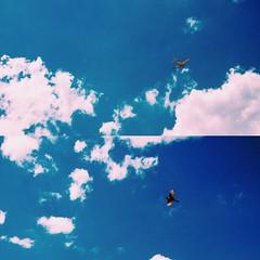 *** (Boris Rozenberg) Tags: blue original sky cloud sun bird clouds airplane day pov sunny moment iphone harmonie 2photos iphonemania vsco vscocam vscoedit
