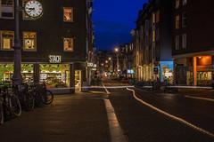 (angheloflores) Tags: street city longexposure blue sky urban netherlands colors amsterdam explore nihgt