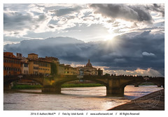 Goodnight Florence (Iztok Alf Kurnik) Tags: old travel bridge wallpaper italy art tourism water beautiful architecture clouds river florence holidays italia postcard famous tourist tuscany firenze arno toscana touristattraction toscany travelguide oldbridge travelphotography firence famousplace traveltheworld traveltourism iztokkurnik