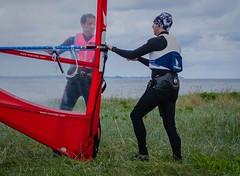Preparing for the race (frankmh) Tags: race skne sweden outdoor windsurfing windsurfer viken