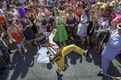 Honfest - Baltimore, Maryland (crabsandbeer (Kevin Moore)) Tags: summer people musicians kids children fun costume movement colorful action band jazz kitsch baltimore parade event beehive hampden dixieland hons cafehon honfest wildanacostias honlove