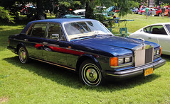 1984 Rolls-Royce Silver Spur (vetaturfumare - thanks for 2 MILLION views!!!) Tags: show blue ny silver spur spirit rr rollsroyce poughkeepsie 1984 roller silverspur