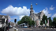 Aan de voet van die ouwe Wester (Peter ( phonepics only) Eijkman) Tags: city holland netherlands amsterdam transport nederland tram rail rails trams strassenbahn noordholland gvb streetcars combino nederlandse