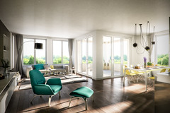 Living interieur 1 (Martin-Klein) Tags: living 3d cg dof bokeh interieur visualisation