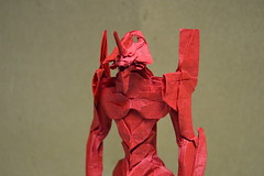 Eva Head Close Up (shuki.kato) Tags: anime japan origami eva box manga super complex kato evangelion pleating shuki guyver