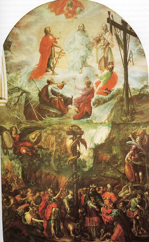 La Transfiguracion de Jesús, Cristóbal de Villalpando, Capilla de la Sábana Santa, Catedral de Puebla, Pue.