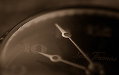 5 More Minutes (Captured Heart) Tags: macro clock sepia hands time timepiece ticktock 5minutes macromondays james414