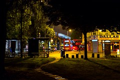 CJ (LFaurePhotos) Tags: street trees urban london buses night scene battersea claphamjunction southwestlondon londonboroughofwandsworth