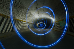 Onda de choque (Orlando Stuwe) Tags: street nightphotography blue light lightpainting azul mexico spiral timelapse streetphotography tunel espiral fuga depht barrido cdmx ondadechoque chingueasumadreelamerica