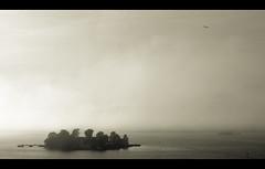 Foggy island (Kai Metso) Tags: sea mist nature misty fog sepia suomi finland landscape island helsinki nikon foggy d200 archipelago