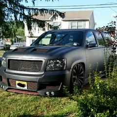My black hoe (FL1 TF CBK) Tags: black chevrolet tahoe chevy hoe custom lowrider dropped matte 2011