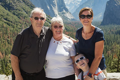 Dad, Mum, Angela and Sammy at Tunnel Outlook, Yosemite Valley. (daclifford) Tags: california nationalpark yosemitenationalpark yosemitevalley davidclifford angelaclifford lesleyclifford samuelclifford tunneloutlook