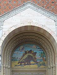 National Zoo ~ Reptile House entry (karma (Karen)) Tags: washingtondc nationalzoo stonework bricks arches doors portals mosaics