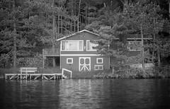 Red House (yesimahuman) Tags: vacation lake film wisconsin 35mm cabin minolta kodak trix 400 filmphotography srt100 cabinporn