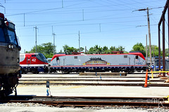 Patriotic Pals (MrRailfan190) Tags: city electric train 4th july siemens amtrak american farewell maintenance locomotive delaware wilmington facility ge fourth excursion sprinter 2016 aem7 asea p42 p42dc acs64