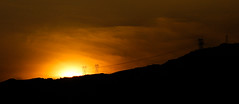 California is Sun Powered (theeqwlzr) Tags: california sunset sky orange clouds crazy colorful wtf southerncalifornia angelesnationalforest canonrebelxti sangabrielnationalmonument glendoraridgemotorwaysangabrielnationalmonument
