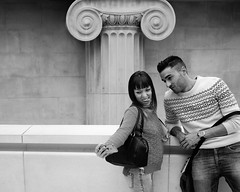Classic portraiture (S.R.Murphy) Tags: people blackandwhite london streetphotography streetportrait britishmuseum selfie flickrexplore applesmartphone lightroom5 sigmae30mmf28 sonynex6 april2015