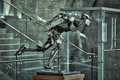 Robo Skater - Day 66/365 (MikeBrowne) Tags: sculpture canada metal robot britishcolumbia richmond skater tonality speedskater nikond800 tamron70200mmf28 3652015