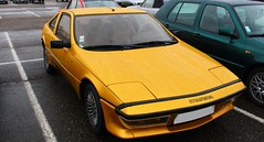 Matra Murena (alex73s https://www.facebook.com/CaptureOfAlex?pnr) Tags: auto old classic car yellow jaune canon french automobile european lyon francaise or transport meeting automotive voiture coche oldcar macchina talbot ancienne simca vehicule matra rassemblement murena dore europeenne eurexpo