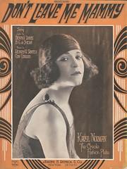 Don't Leave Me Mammy (New York Big Apple Images) Tags: music drag song norman transvestite 1922 sheetmusic crossdresser