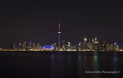 Toronto at Night (Falcon Gillis) Tags: city nightphotography toronto night photography nikon cityscape limitededition torontoontario torontoontariocanada longexposurephotography cityphotography cityscapephotography nikond7000