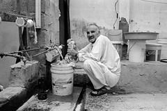 Washing Day (Robber34) Tags: street leica blackandwhite bw streetart film monochrome analog downtown streetphotography analogue monochrom schwarzweiss nokton voigtländer doha qatar katar adox adoxchs100 monoart