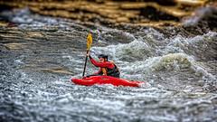 Whitewater kayaking (Subdive) Tags: water whitewater kayak sweden stockholm kayaking strömmen