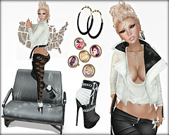 Rock Me Fabulous. (Mistie Misfit) Tags: new woman eclipse necklace yummy eyes shoes skins eyelashes events ears ring sl event rings secondlife blonde whatever earrings soy con nox supernatural linc newrelease azz aimi beautymarks slink auricle angelrock ryca catwa appliers aivulo collabor88 thearcadegatchaevent aimiskins cuteazz glamistry biker'schoicefair