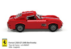 Ferrari 250 GT LWB Berlinetta 'Tour de France' (Scaglietti - 1956) (lego911) Tags: auto italy france classic sports car de model italian tour lego render under over ferrari 1950s million 1956 gt coupe challenge lemans thousand 250 cad sportscar racer 89 povray v12 tdf moc scaglietti berlinetta ldd lwb miniland 0585 lego911 overamillionunderathousand 0585gt