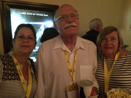 "Film Festival fans Donna laRosa with Gage Powell and Karyl Boynton at the Cinepolis feature ""In the Name of My Daughter"""