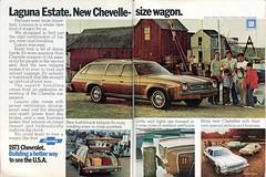 1973 Chevrolet Laguna Estate Wagon Advertisement Newsweek April 9 1973 (SenseiAlan) Tags: chevrolet wagon estate 9 advertisement april laguna newsweek 1973
