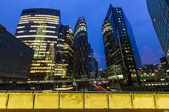Buildings (Majiim) Tags: street city light urban paris building tower night landscape la défense