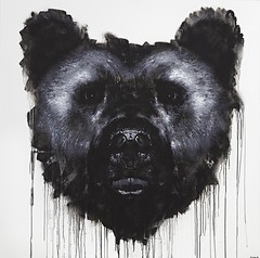 Ursus arctos, 2014, 150 x 150cm, spray can & acrylic on MDF.