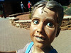 Creepy statue, Sedona, Arizona, USA (gruntzooki) Tags: arizona usa girl statue funny decay sedona az bv