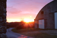 Le ciel rose (RacLeb) Tags: sunset sky sun rose countryside ciel campagne coucherdesoleil