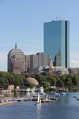 John Hancock Tower - Boston, Ma (twiga_swala) Tags: city usa tower boston skyline architecture america buildings john river ma bay back high view skyscrapers massachusetts newengland charles center american spine hancock prudential banks