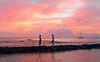 Meeting in Infinity (jcc55883) Tags: sunset sky clouds hawaii nikon waikiki oahu horizon waikikibeach nikond3200 yabbadabbadoo kalakauaavenue d3200 kuhiobeachpark