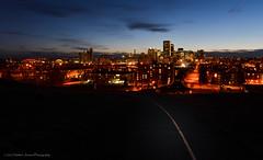 Follow the Path (Witty nickname) Tags: longexposure calgary skyline twilight dusk alberta nikkor yyc calgaryskyline bridgeland tomcampbellhill nikkor2470mmf28 nikond800