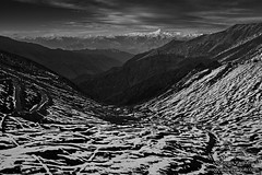 Patterns (Awais Yaqub) Tags: pakistan blackandwhite mountain snow patterns northernareas nanga parbat tectures