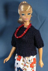 Navy Sweater and Skirt Set (Debras Closet) Tags: red white navy barbie dollclothes