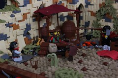 Bandit Camp at Kharab (jsnyder002) Tags: tree tower castle wall ruins desert lego vine medieval palm east creation cloth middle shelter fortress rubble moc kaliphlin