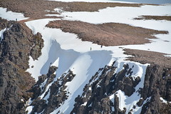 Skiers on the edge of one of the cornices of Coire an t-Sneachda (nic0704) Tags: mountain walking t landscape scotland highlands outdoor hiking hill peak an ridge climbing summit mountainside cairn gorm scramble cairngorm cairngorms foothill lochan coire sneachda fiacaill