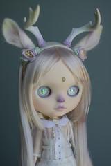 Opalessa (Erin Deir ) Tags: white rainbow doll ooak pastel pale deer fawn albino blythe custom opal faun fbl iridecent albinism ambrosial
