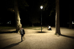 Parc Mistral, at night... (hern42) Tags: france grenoble exposition vernissage bop 2016 leicam 35mm14 lamodification
