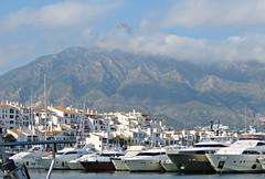 Cloudy Puerto Banus! ('cosmicgirl1960' NEW CANON CAMERA) Tags: travel blue brown holiday spain terracotta espana manmade costadelsol andalusia puertobanus marbella yabbadabbadoo