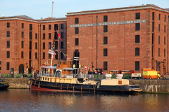 'Daniel Adamson' Canning dock 8th May 2016 (John Eyres) Tags: liverpool manchester canal dock ship daniel steam restored tug tender mersey newly canning moored adamson 080516