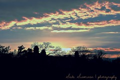 Flames in the sky (suominensde) Tags: barcelona sunset sky espaa cloud building tree landscape spain nikon catalonia cielo nube catalua puestadelsol d5300