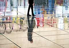 rain-man-reflection (gregjack!) Tags: street man paris france colour reflection rain wow french streetphotography