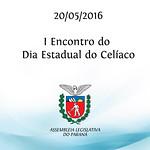 I Encontro do Dia Estadual do Cel�aco 20/05/2016